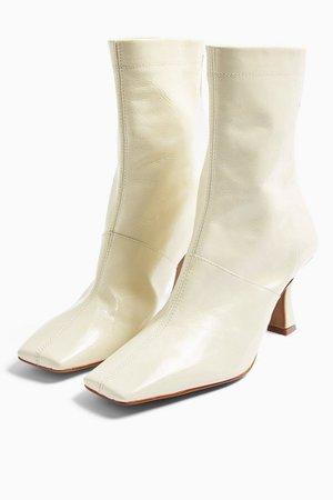 MAEVA Cream Flared Boots | Topshop