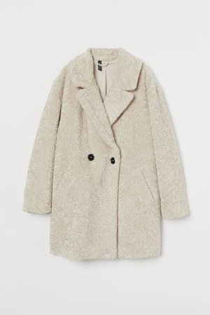 Teddy Bear Coat - Beige