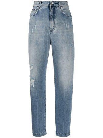 Dolce & Gabbana Ripped Detail Boyfriend Jeans - Farfetch