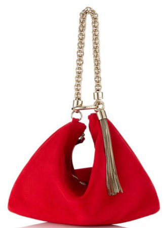 Red Clutch Bag w/ gold chain