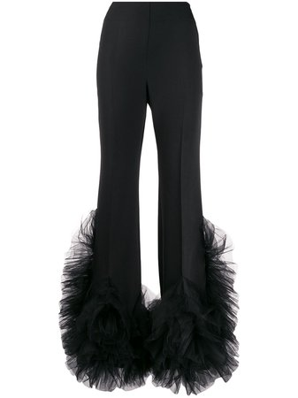 Loulou Tulle-Embellished Flared Trousers Ss20 | Farfetch.com