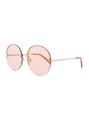 Le Specs Say My Name in Rose Gold & Blush Gold Flash | REVOLVE
