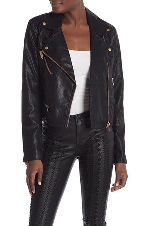 BLANKNYC Denim | Faux Leather Moto Jacket | Nordstrom Rack