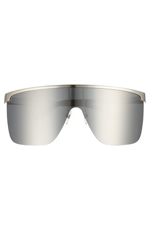 Givenchy 70mm Rimless Shield Sunglasses | Nordstrom
