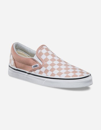 VANS Checkerboard Slip-On Womens Shoes - BLUSH - 312022332 | Tillys