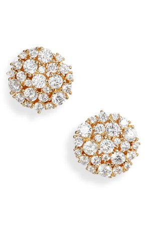 Nordstrom Clustered Cubic Zirconia Circle Stud Earrings | Nordstrom