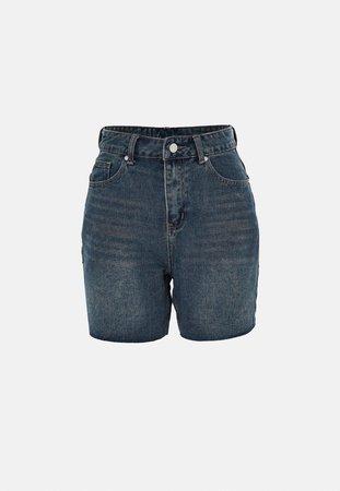 Blue Rigid Fit Denim Shorts | Missguided