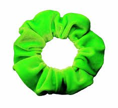 neon green scrunchie - Google Search