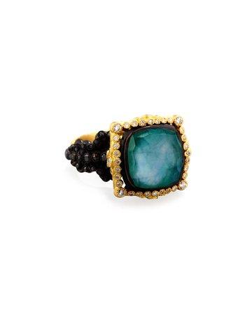 Armenta Old World Midnight Cushion-Cut Ring
