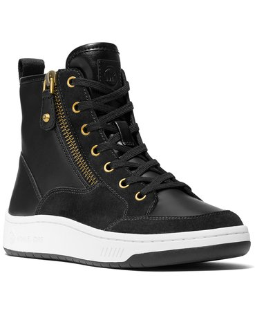 black Michael Kors Shea High Top Sneakers & Reviews - Athletic Shoes & Sneakers - Shoes - Macy's