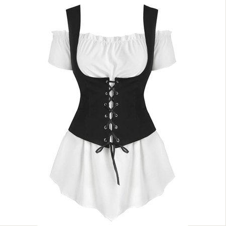Pirate shirt with corset
