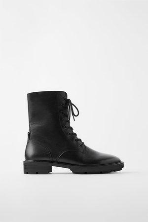 Кожаные ботинки в байкерском стиле | ZARA Украина