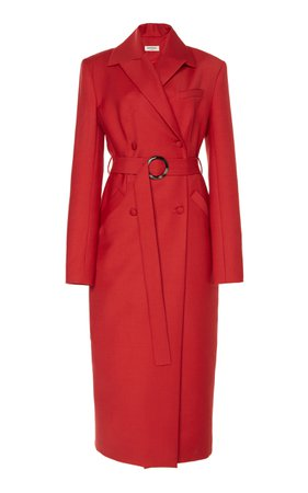 MATÉRIEL Belted Wool-Blend Double-Breasted Coat
