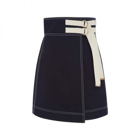 Marni buckled wrap skirt