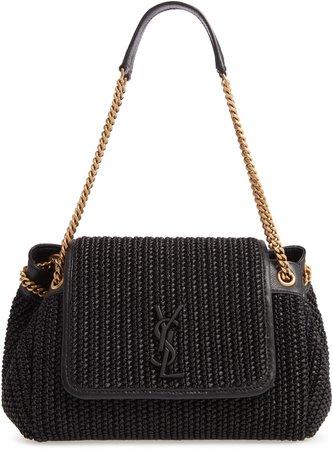 Small Nolita Raffia Shoulder Bag