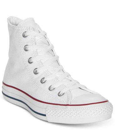 Converse Women's Chuck Taylor High Top Sneakers from Finish Line & Reviews - Finish Line Athletic Sneakers - Shoes - Macy's white
