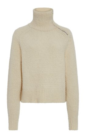 Isabel Marant Effy Zip-Detailed Wool-Blend Turtleneck Sweater