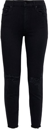 The Looker Distressed Mid-rise Skinny Jeans