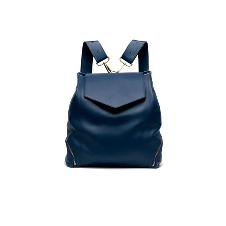Holly & Tanager - The Professional Leather Backpack Purse In Navy