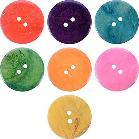 Amazon.com: Craft Buttons Sewing Buttons - Wooden Buttons in Bulk Buttons for Crafts Button Mix Color- 20pcs Buttons