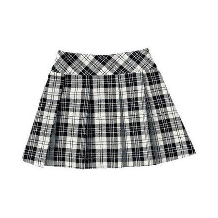 Rags Land Black Plaid Skirt