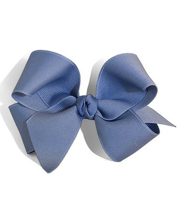 Picture Perfect Hair Bows Antique Blue Pigtail Bow Clip | zulily