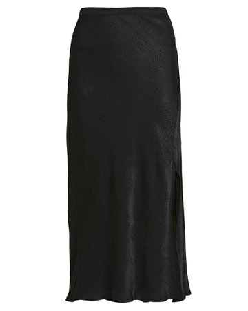 Anine Bing | Dolly Snake-Printed Silk Skirt | INTERMIX®