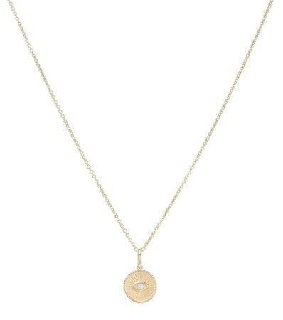Marquis Eye 14Kt Yellow Gold And Diamond Necklace - Sydney Evan | Mytheresa