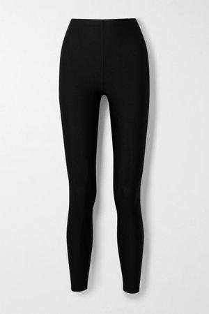 Satin-jersey Leggings - Black