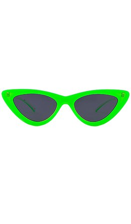 Le Specs x Adam Selman The Last Lolita in Neon Lime & Smoke Mono | REVOLVE