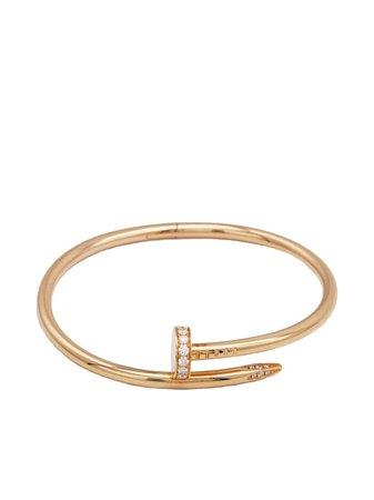 Cartier pre-owned 18kt Rose Gold Juste Un Clou Diamond Bracelet - Farfetch