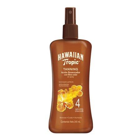 Aceite bronceador Hawaiian Tropic FPS 4 en spray 240 ml | Walmart