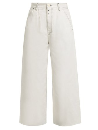 High-rise wide-leg jeans | MM6 Maison Margiela | MATCHESFASHION.COM US