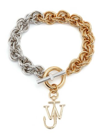 Shop gold & silver JW Anderson multi-links two-tone bracelet with Express Delivery - Farfetch