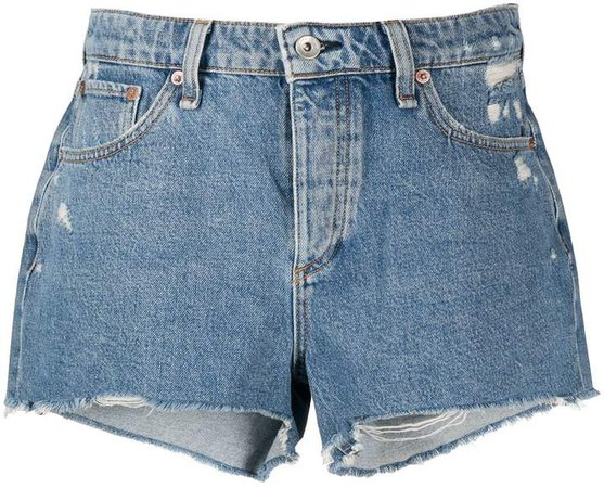 Misha distressed denim shorts