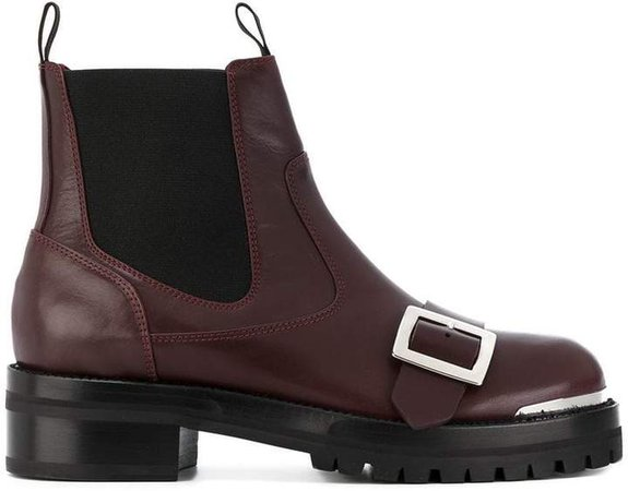 buckle strap boots