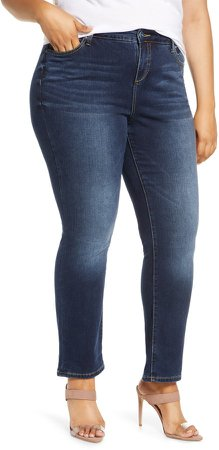 SLINK Jean High Waist Straight Leg Jeans
