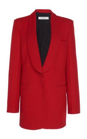 Oversized Collar-Detailed Twill Blazer by Philosophy di Lorenzo Serafini | Moda Operandi