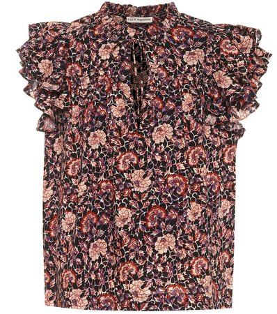 Ulla Johnson, Gabi floral cotton-blend blouse