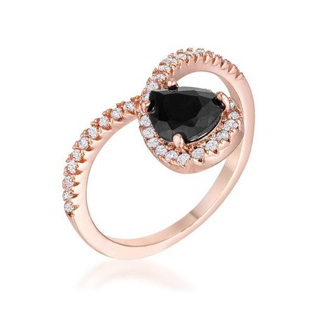 Rings | Shop Women's Rose Gold Crystal Zircon Earring at Fashiontage | R08567A-C03-Rose_Gold-size_10