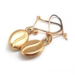 coffee bean earrings gold - Google Search