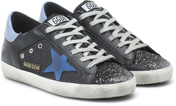 Superstar leather and mesh sneakers