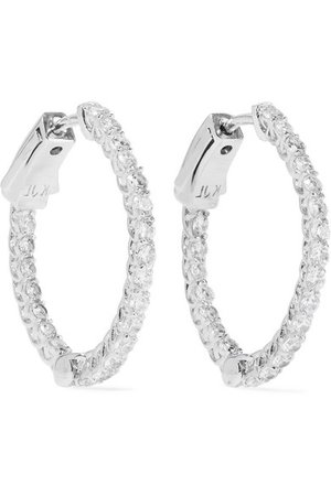 Kenneth Jay Lane | Silver-tone cubic zirconia hoop earrings | NET-A-PORTER.COM