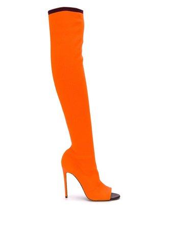 Victoria Beckham Jasmin 115Mm Knitted Open Toe Boots   Farfetch.com