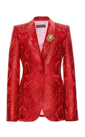 Jacquard Jacket by Dolce & Gabbana   Moda Operandi