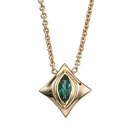 Classic Marquise Tourmaline Pendant in 14K Yellow Gold by GiGi Ferranti