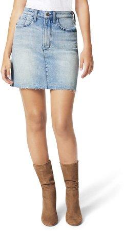 The High Waist Denim Miniskirt