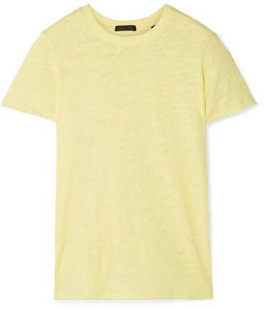 Schoolboy Slub Cotton-jersey T-shirt - Pastel yellow