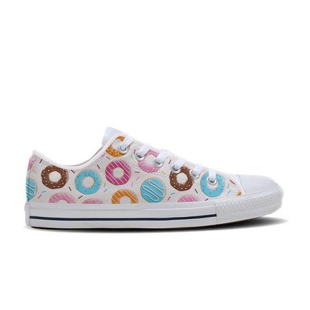 Donut Shoes | Custom Printed Shoes with Doughnuts | 24 Style