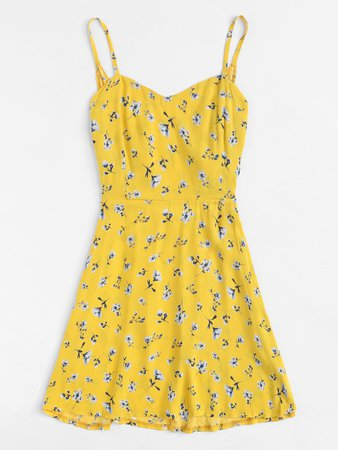 Yellow dress Romwe